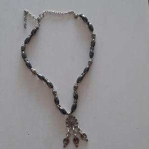 Ethnic hematite necklace